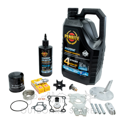 Yamaha 30-40hp 4 Stroke Service Kit with Anodes & Oils (OSSK7AO)